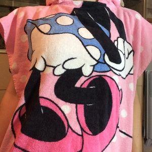 Disney Swim - Towel Terrycloth Bathrobe Minnie Mouse